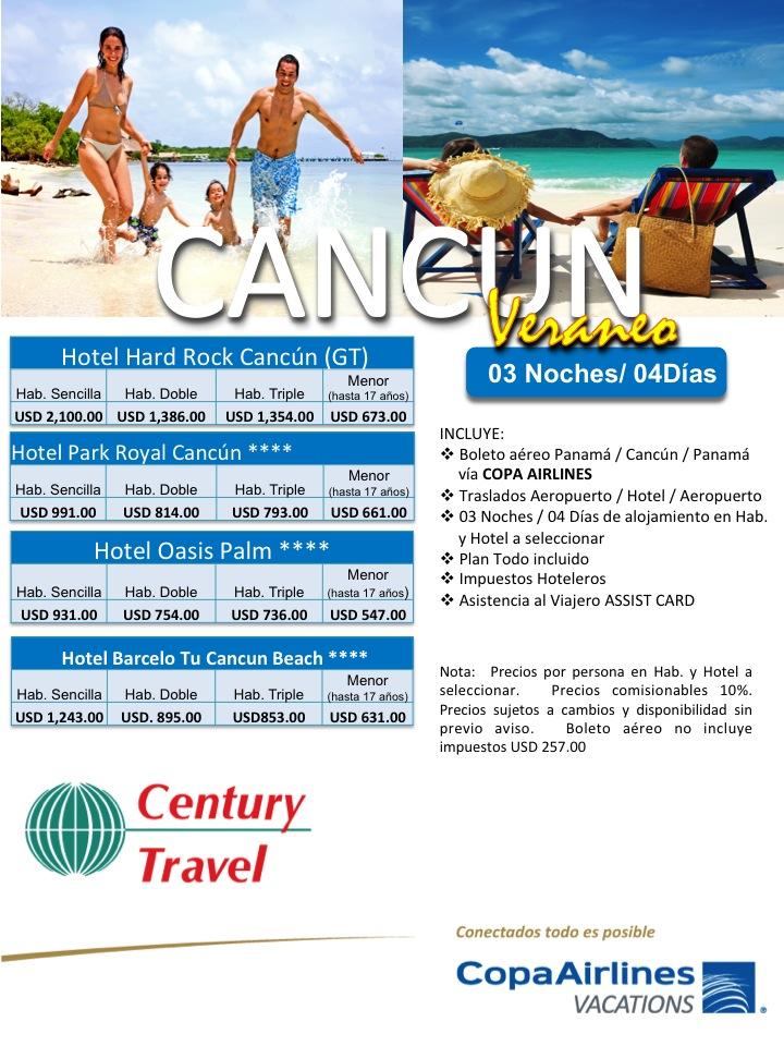 paquete cancun