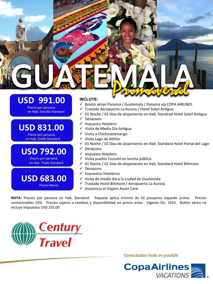 paquete guatemala